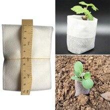 100 Pcs Nursery Pots Seedling-Raising Bags non-woven fabrics Garden Supplies Garden Supplies Environmental