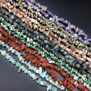 Natural stone loose beads irregular shape Crystal Crushed stone string bead making For DIY jewelry bracelet necklace accessories new retro hot acrylic beads imitation wood beads oval shape for handmade diy necklace bracelet jewelry accessories making