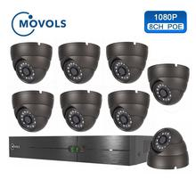 Movols 1080P POE NVR Kit H.265 Security Camera System 8CH 2.0MP IR Indoor Outdoor CCTV 8PCS POE IP Camera Video Surveillance Set стоимость