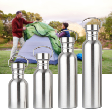 350/550/750/1000ml Portable Stainless Steel Water Bottle Sports Travel Cycling Hiking Camping Bottles Jug Outdoor Cup