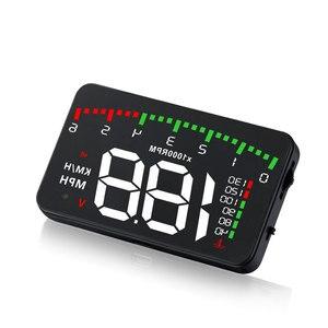 Image 4 - OBDHUD A300 OBDII Head Up Display 9 V 16 V MPH KM/H Kraftstoff Geschwindigkeit Warnung System Windschutzscheibe projektor Auto Accesorie Freies Verschiffen