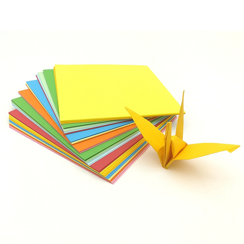 15cm * 15cm Environmental Protection Hand Made Children's Fine Origami Multicolor Hard Pen Calligraphy Work Color Paper
