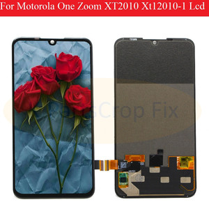 Image 1 - Original For Motorola One  Zoom lcd XT2010 Xt12010 1 Lcd Screen Display Touch Glass Digitizer Assembly for moto  One  Zoom LCD