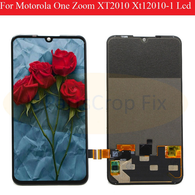 Original For Motorola One  Zoom lcd XT2010 Xt12010 1 Lcd Screen Display Touch Glass Digitizer Assembly for moto  One  Zoom LCD