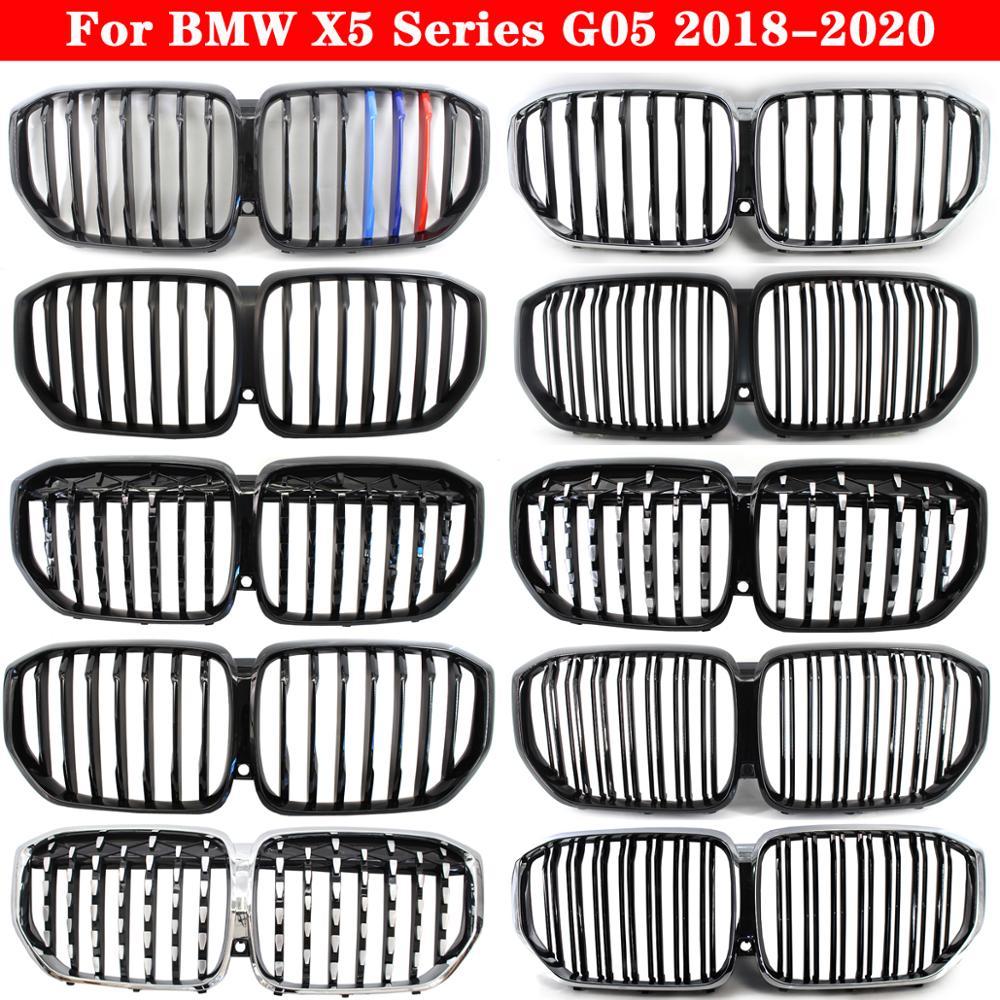 Стайлинг автомобиля, средняя решетка для BMW X5 серии G05 2018-2020, передний бампер из АБС-пластика, решетка для автомобиля, вертикальная решетка