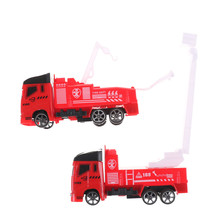 1PC Simulation Pull Back Fire Truck Pretend Play Water Tanker Model Toy Kids Educational Gift Toys