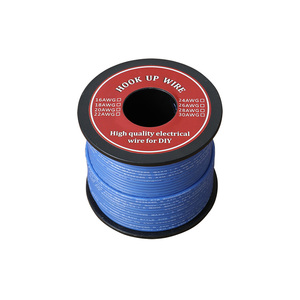 Image 4 - 50 80m Electrical Wire UL3132 24AWG Soft Silicone Insulator Stranded Hook up Wire Tinned Copper 300V 6 Colors for DIY Toys Lamp