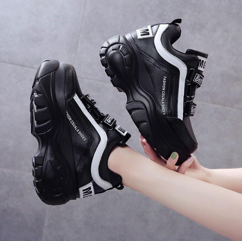 Leader Show Women Casual Shoes Comfortable Brand Women Shoes Fashion Outdoor Women Sneakers Walking Shoes Black Zapatillas Muier