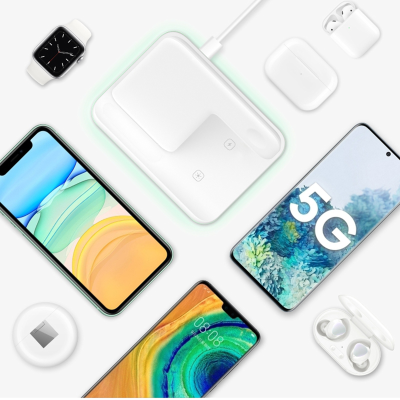 Wireless Charger Stand 15W Qi Fast Charging Dock Station for Apple Watch iWatch 5 AirPods Pro For iPhone 11 XS XR X 8