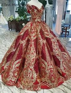 Image 3 - Off כתף בורגונדי כדור שמלות Quinceanera שמלות 2020 נדל תמונות נפוח מחוך נצנצים אירוע נשף מסיבת עבור מתוק 15 16 בנות