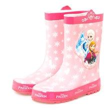 Nowość Disney Frozen Anna dziewczęce kalosze śliczne różowe Elsa śnieżna księżniczka buty do wody studenckie kalosze gumowe rozmiar 23-36