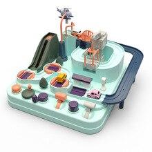 Больше Cheng маленький поезд детский автомобиль контрольные точки Приключения ручной инерционная камера трек обучающая детская игрушка