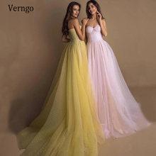 Длинные вечерние платья verngo в горошек тюлевые трапециевидные