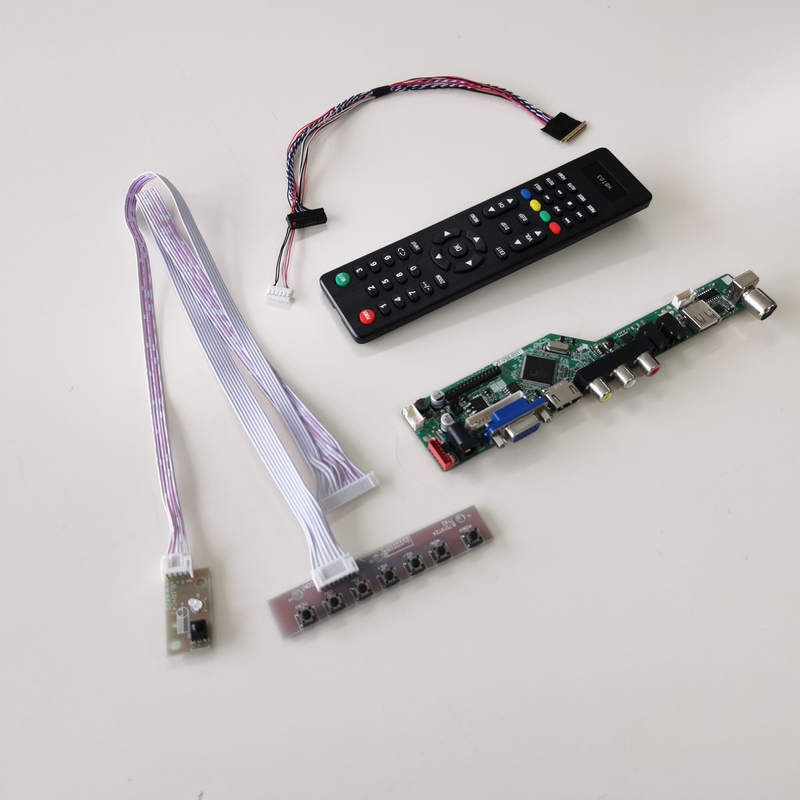 VGA LCD Controller Driver Board Kit for HB156WX1-100 LED lvds HDMI DVI
