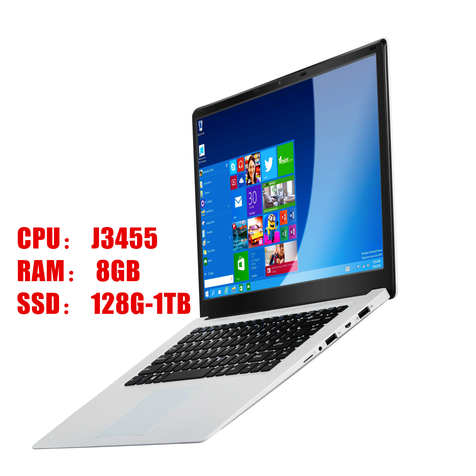 15.6 Inch Gaming With 8G RAM 1TB 512G 256G 128G 64G SSD ROM Laptop Ultrabook Intel Quad Core Windows 10 Notebook Computer-1