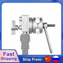Meking 4 in 1 Full Metal Grip Head Long Handle For Boom Arm Extension Pole Cross Bar Light Stands Heavy Duty C stands Stuido