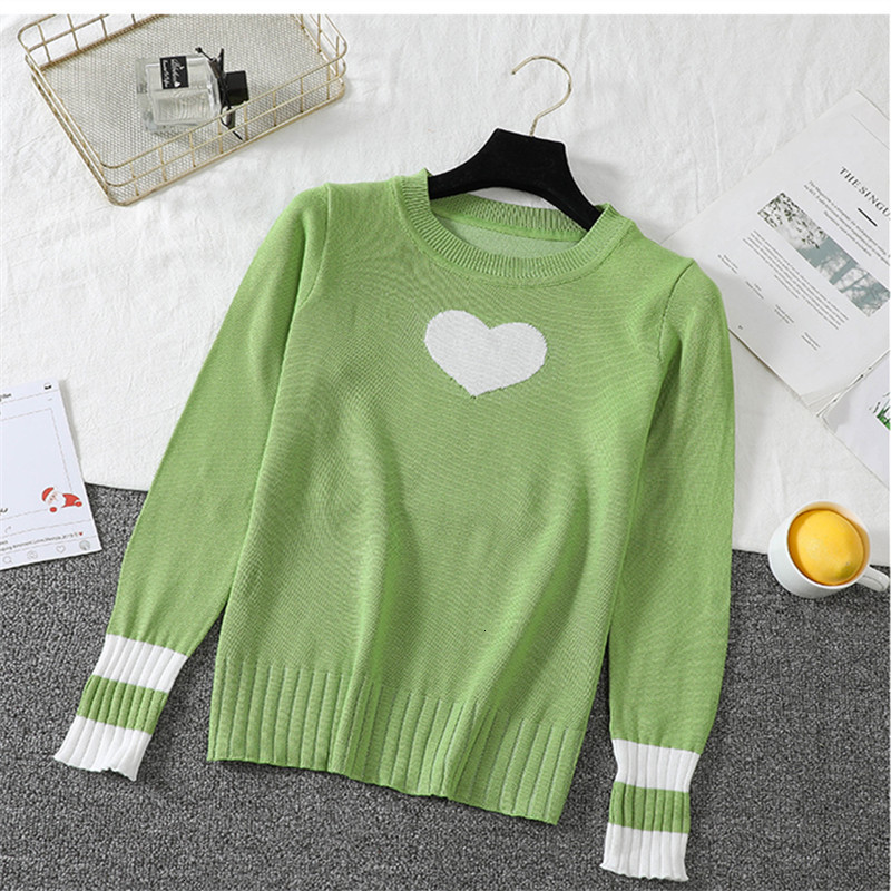 Cute  All Match O-Neck Autumn Knitwear Sueter Mujer Knitted Sweater Pullover Long Sleeve Fashion Women New 2019 Warm
