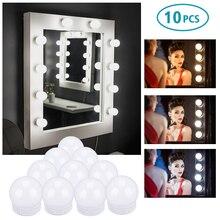 Light-Bulb Vanity-Mirror Led-Makeup Dressing Wall-Lamp Dimmable USB 10pcs 5V 3-Color