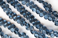 loose beads london blue color quartz heart 8mm faceted 20cm for DIY jewelry making FPPJ wholesale nature gemstone