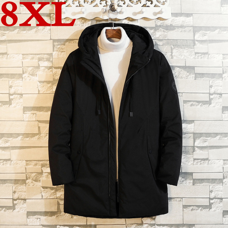 2019 Plus Size  8XL 7XL  6XL  Thick  Warm Winter Leisure  Down Jacket Men Long  Coat Parkas