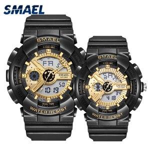 Часы для пар, спортивные водонепроницаемые часы 50 м, светящиеся наручные часы reloj с автоматической датой, черные золотые часы, часы для женщи...