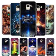 Cool Alien UFO Art Case Cover for Samsung Galaxy J4 J6 Plus J8 2018 J4+ J6+ M10 M20 M30 M40 Hard Cases(China)
