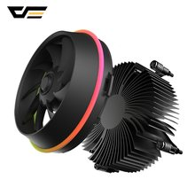 Darkflash PWM CPU Cooler Aura Sync DP Mulai dari 280W Double Ring LED Fan 4pin Radiator Pendingin CPU Cooler untuk Intel core I7/I5/I3 Shadow(China)