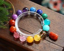 Rainbow Natural Different Mixed Stone Moonstone Lapis Rose Quartz Amber Amazonite Beads Bracelet Pi Xiu Agate Pendant 12mm AAAAA certificate natural blood amber bracelet women men healing gokd amber 7mm crystal stretch round beads leaves pendant aaaaa