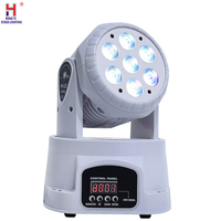 Led Moving Head Wash 7x12w Mini Music Sound Light Stage Home Christmas Party lumiere Laser Show Disco Dj Dmx Lamp rgbw Light