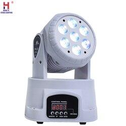 Led ruchoma głowica umyć 7x12w Mini muzyczny etap światła boże narodzenie w domu Party lumiere pokaz laserowy Disco Dj Dmx lampa rgbw światła