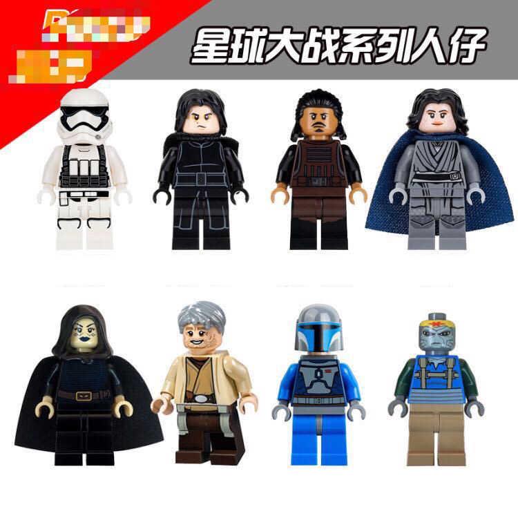Star wars blocos de construção compatível com starwars legoinglys minecrafted figuras define minifigure brinquedos para crianças