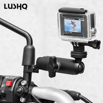 Motorcycle Bicycle Camera Holder Bike Handlebar Mirror Mount Bracket For HONDA Cbr 1100Xx Vtx 1300 Vtx 1800 Valkyrie 1500 Dio 27 image