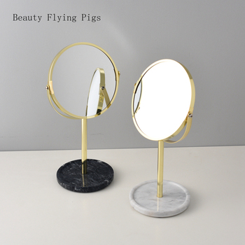 New light luxury mirror simple design metal double-sided makeup mirror home decoration retro practical mirror art decoration