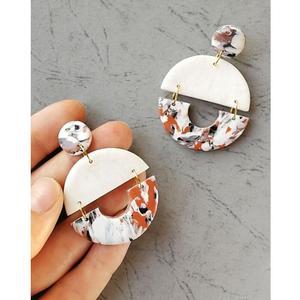 Lâmina de metal corte de couro morrer brinco 2 círculo decoração forma pingente modelo padrão diy cortador artesanal brinco suprimentos presente