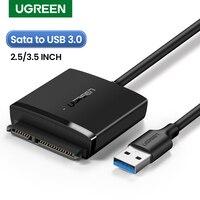 Ugreen SATA a USB adaptador USB 3.0 2.0 a SATA cable Convertidor para Samsung Seagate WD 2.5 3.5 HDD SSD disco duro USB SATA adaptador
