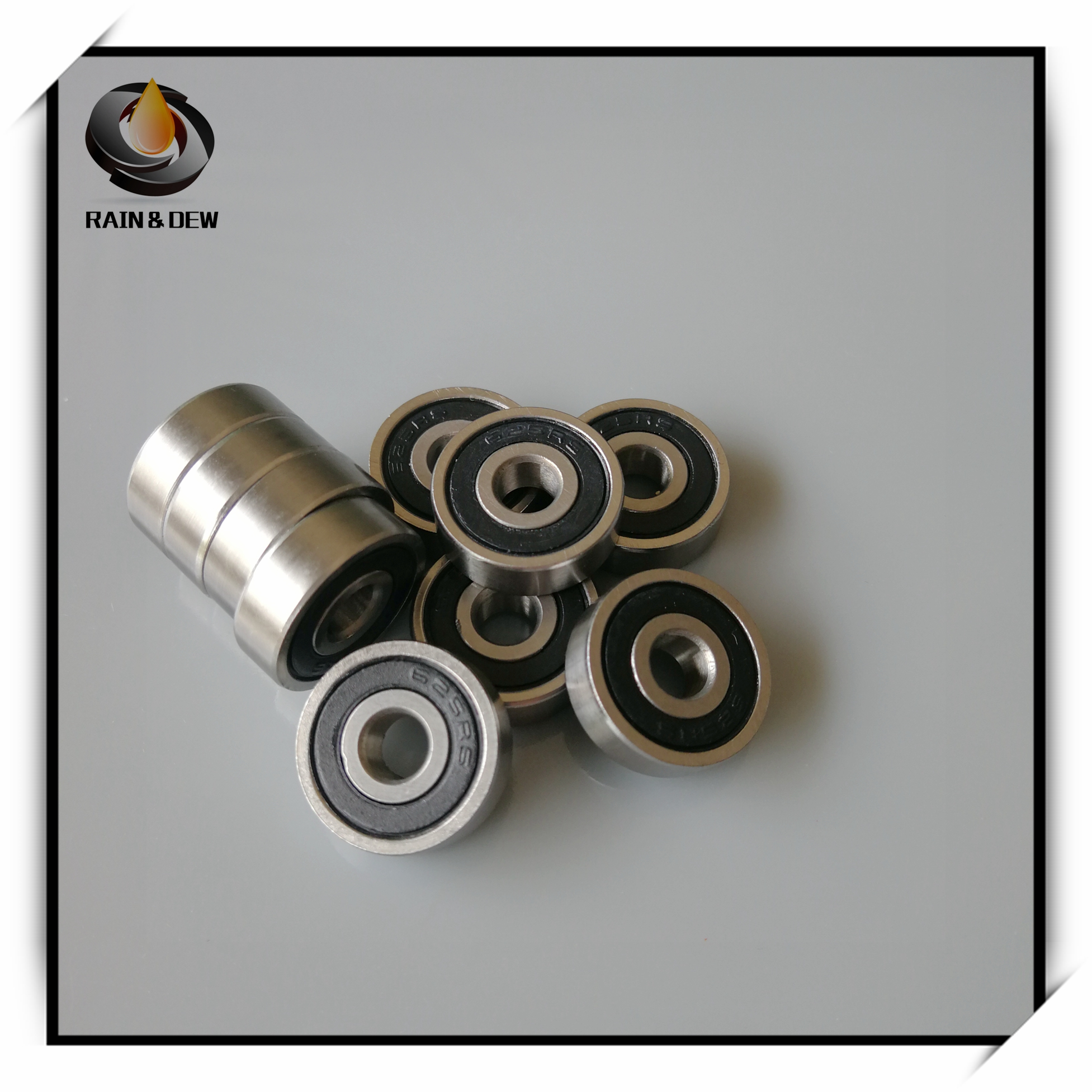 10Pcs 625RS Bearing ABEC-7 5*16*5 mm Miniature Sealed 625-2RS Ball Bearings 625 2RS For VORON Mobius 2/3 3D Printer