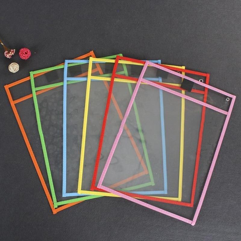 Creative Writable File Bag Folder Stationery Folder Making Children Dry Erase File Bag Pvc Dry Erase Bag Random Color