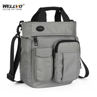 Männer Multifunktionale Schulter Messenger Tasche mit Kopfhörer Loch Wasserdichte Nylon Reise Handtasche Große Kapazität Lagerung Taschen XA11C      -