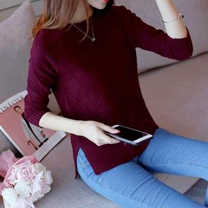 Fashion Ladies Full Sleeve Women Knitting Sweater Solid O-Neck Pullover Jumper Female Sweater Casual Knitted Girls Sweaters