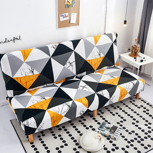 Image 3 - Modern Geometric Print Folding Sofa Bed Cover Without Armrest Universal Stretch Couch Cover Furniture Slipcover Sofa Protector