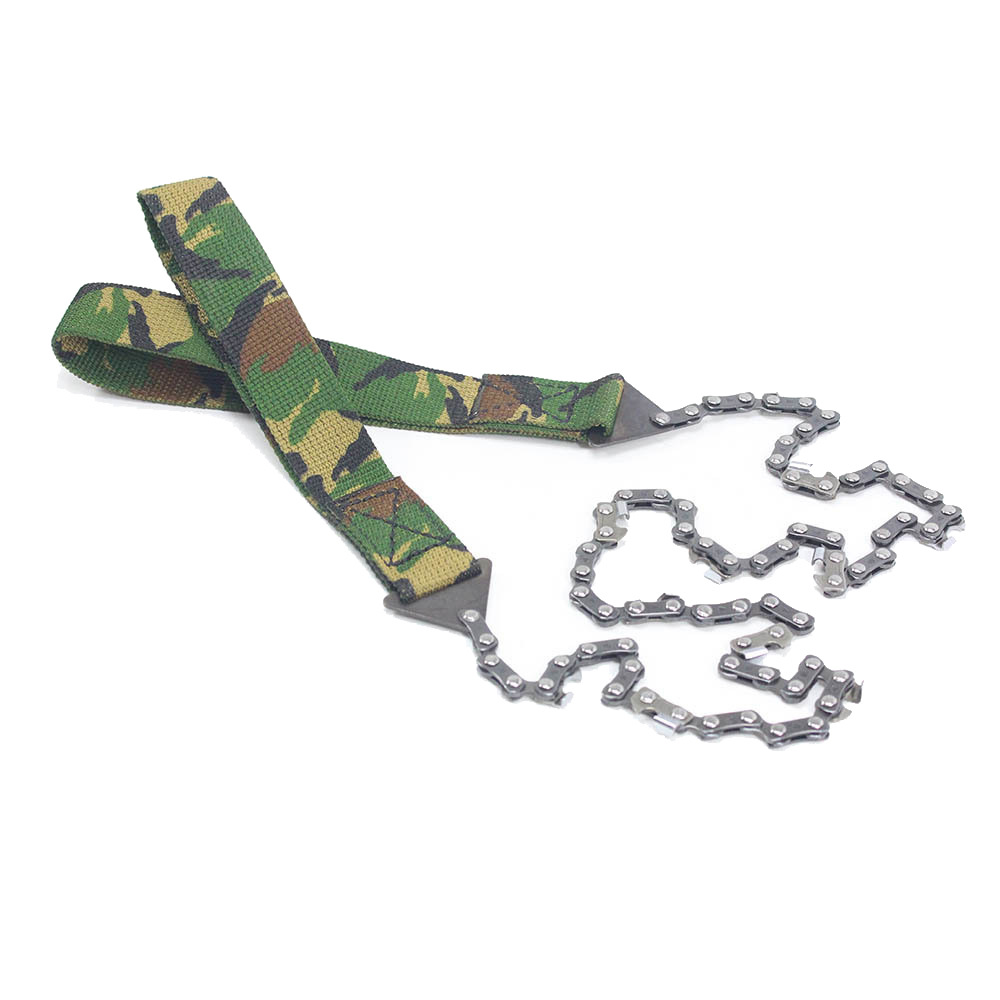 Outdoor Camping Tool 24-Inch Portable Camouflage Hand-pull Chainsaw Survival Chain Saw