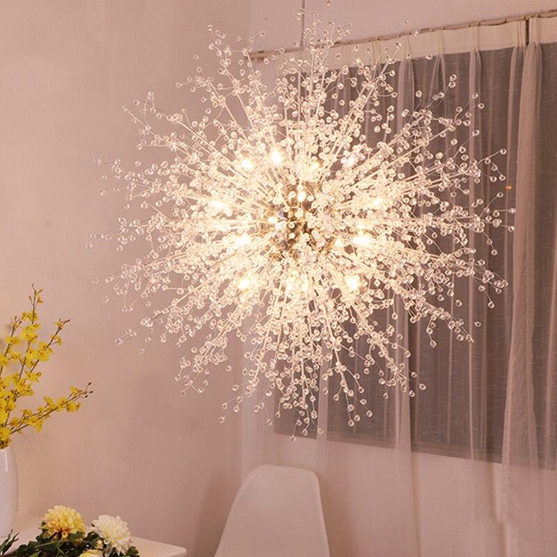 Novelty Pellet Crystal Beads Dantant Lamp G4 Led Pendant Light For Living Room Restaurant Cloth Shop Cafe Kitchen Lighting Lampe