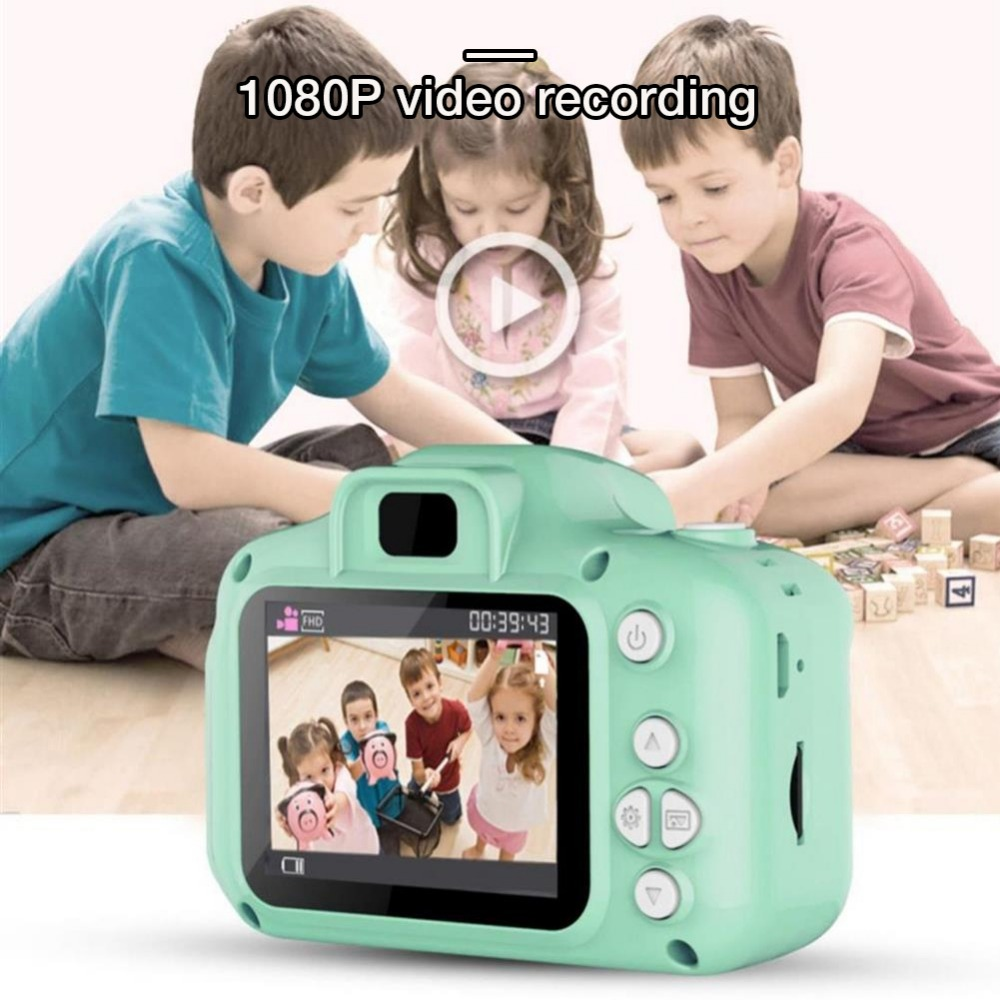 He046f1570e9c4b808c5d460808307c82f Rechargeable Kids Mini Digital Camera 2.0 Inch HD Screen 1080P Video Recorder Camcorder Language Switching Timed Shooting #S