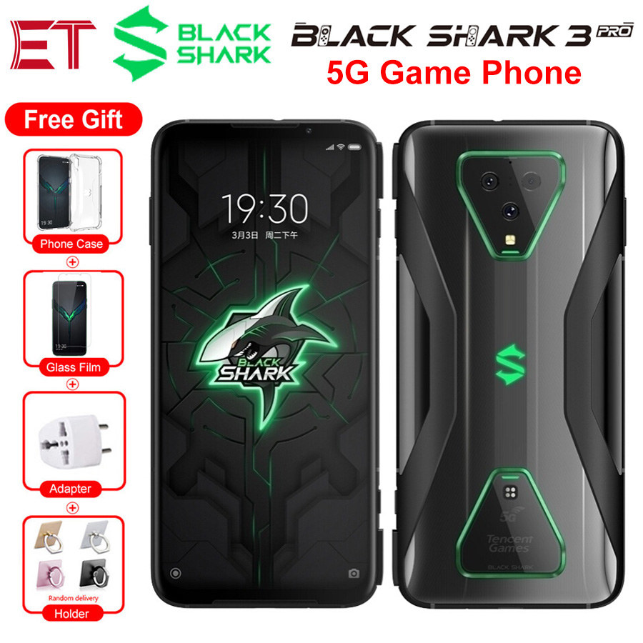 """5G Phone Global Version Xiaomi Black Shark 3 Pro Game Mobile Phone 7.1"""" 12GB 256GB Snapdragon865 64MP 5000mAh Android Smartphone"""