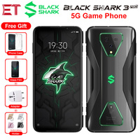 5G Phone Global Version Xiaomi Black Shark 3 Pro Game Mobile Phone 7.1 12GB 256GB Snapdragon865 64MP 5000mAh Android Smartphone