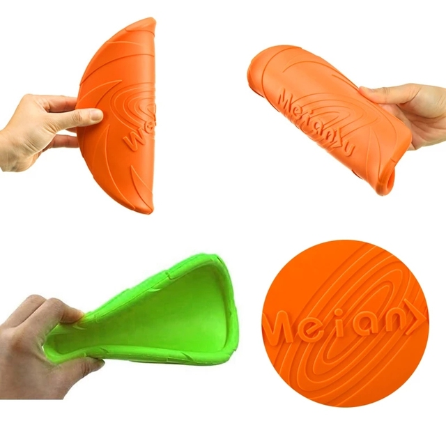 Safe Elastic Durable Tear-Resistance Floatable Frisbee For Many Hours Of Playtime . 5