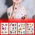 10 шт., цирковые тату-наклейки, Детские тату для тела и лица, вечерние украшения для дня рождения, детские наклейки-татуировки
