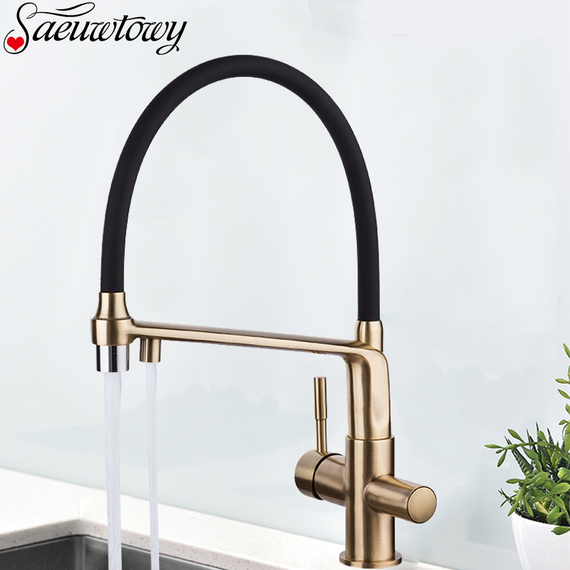 Kitchen Faucet Chrome Kitchen Sink Faucet Brass Kitchen Tap Faucet With Filter Faucet 360 ° Rotating Sink Mixer Dual Mode