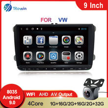 2Din Android Car Radio 9Inch GPS Navigation Video For VW Volkswagen Golf Skoda Seat Polo Passat B6 B7 Multimedia Player