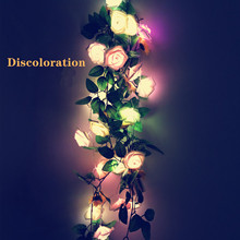 LED colorful rose string 1.5M/3M Christmas party holiday birthday decoration lantern Valentine's Day confession wedding valentine s day rose confession present led night light